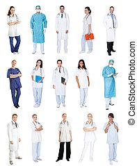infirmières, monde médical, ouvriers, médecins
