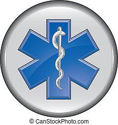 infirmier, bouton, monde médical, secours