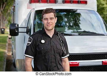 infirmier, mâle, portrait