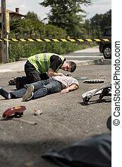 infirmier, trafic, réanimer, victime, collision