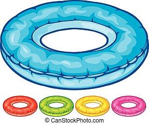 inflável, tubo interno