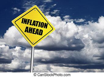 inflação, à frente, sinal