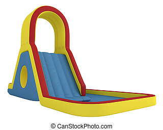 inflable, childrençs, diapositiva