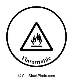 inflammable, icône