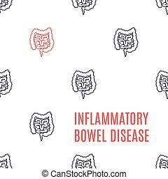 Inflammatory bowel disorder linear pattern poster