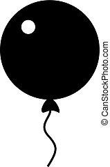 Inflatable balloon icon