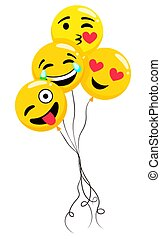 Inflatable Balloons in Shape of Emoji, Emoticons