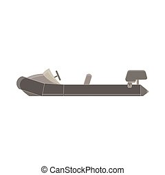 Inflatable Boat With Peddles Cartoon Simple Style Colorful...