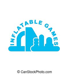 Inflatable Games logo. Emblem for water park amusement