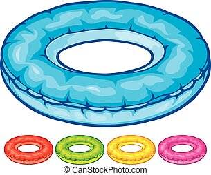 inflatable inner tube (floater, swimming tire, floating...