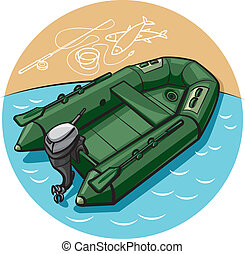 inflatable rubber boat