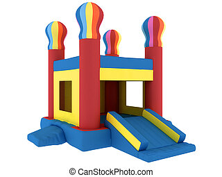 inflatable slide, isolated on a white background