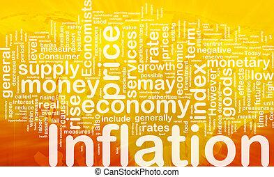 inflatie, achtergrond, concept