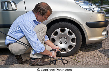 Inflating tire