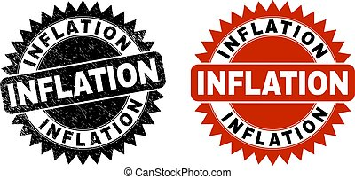 INFLATION Black Rosette Watermark with Corroded Surface