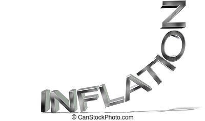 letters inflation on white