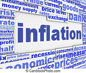 inflation, message, conceptuel, conception