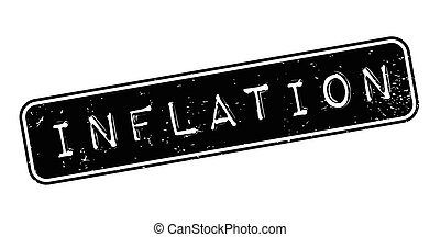 Inflation rubber stamp. Grunge design with dust scratches....