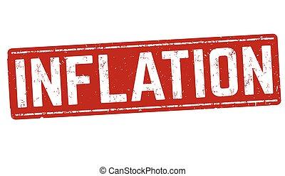 Inflation sign or stamp - Inflation grunge rubber stamp on...
