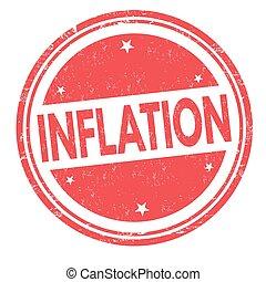 Inflation sign or stamp - Inflation grunge rubber stamp on ...