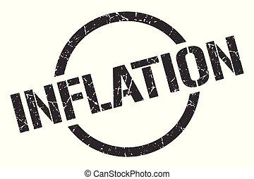 inflation stamp - inflation black round stamp