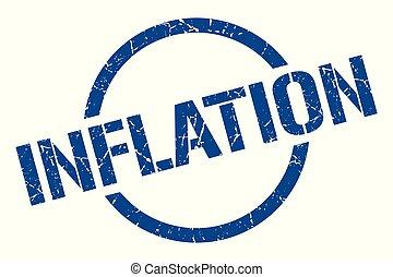 inflation stamp - inflation blue round stamp