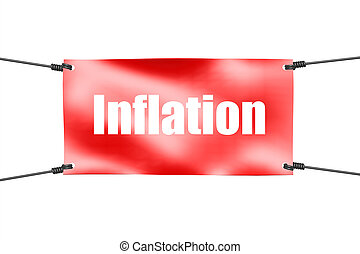 Inflation word with red banner