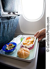 Inflight Meal - An airplane chicken and potatos meal