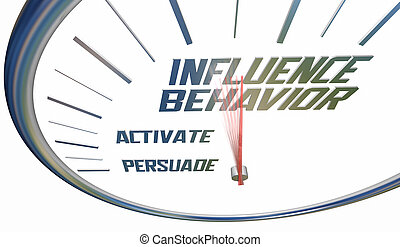 Influence Behavior Change Persuade Convince Alter Clock Words 3d Illustration