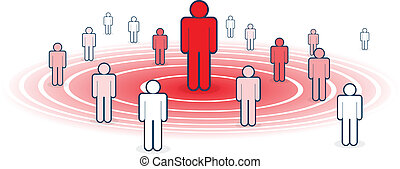 Influence - Metaphoral vector illustration of influence,...