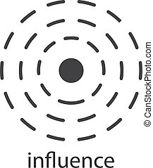 Influence glyph icon. Silhouette symbol. Negative space. ...