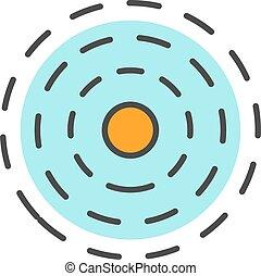 Influence symbol color icon