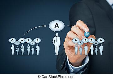 influencer, 意見, リーダー