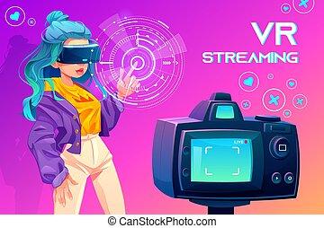 Influencer blogger vr streaming. Broadcasting - Influencer ...