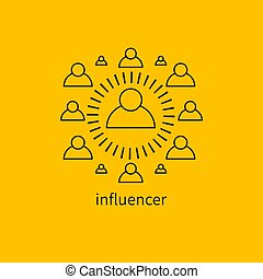 influencer, leader icon - Icon influencer, leader, ...