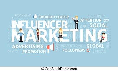 Influencer marketing concept.