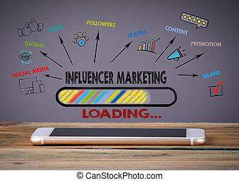 Influencer Marketing, Media Technology concept
