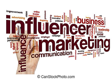 Influencer marketing word cloud concept