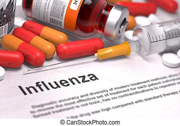 Influenza Diagnosis. Medical Concept.
