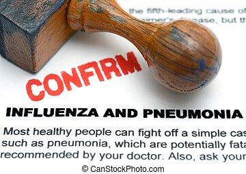 influenza, e, pneumonia