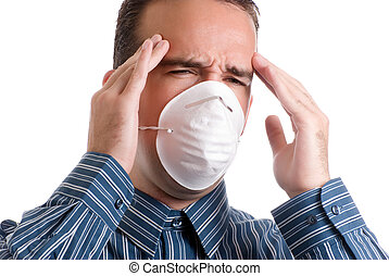 Influenza - A young man with influenza is suffering from a...