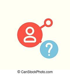 info, anteil, symbol, multimedia, frage, wie, hilfe, zu, ikone, frage, mark., ikone