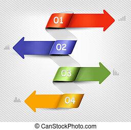 info, banners., sätta, vektor, grafik