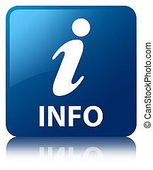 Info blue square button