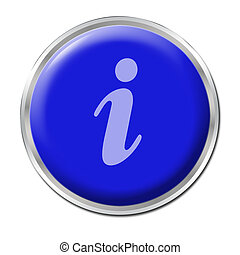 Info Button - blue round button with the symbol for...