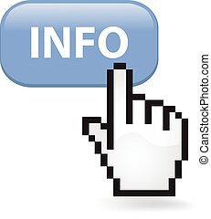 Info Button - Info button with a cursor hand.