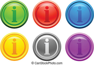 Info button. [Vector]