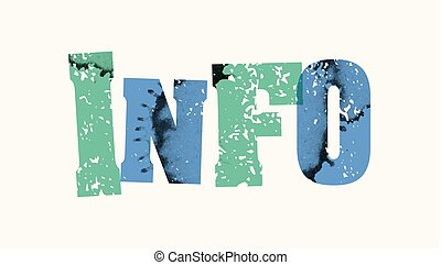 Info Concept Colorful Stamped Word Illustration