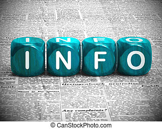 Info concept icon means information or data and Intelligence...