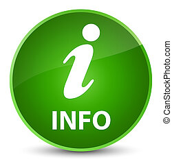 Info elegant green round button